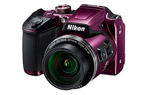 Nikon Coolpix B500 16MP Point and Shoot Camera with 40x Optical Zoom (Purple) With HDMI Cable, 16 GB SD Card and Carry Case