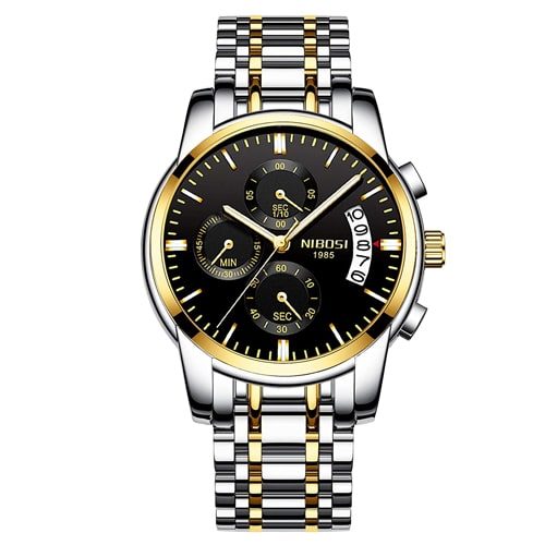 NIBOSI Chronograph Black Dial Men's Watch, Trustedreview