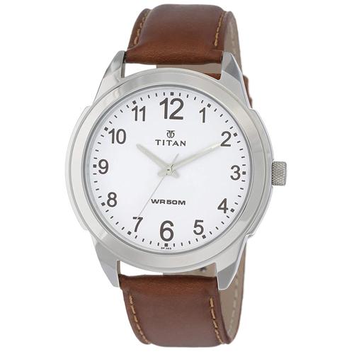 Titan Analog White Dial Men's Watch