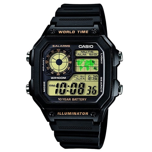 Digital Black Dial Men's Watch