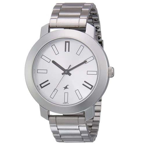 Fastrack Casual Analog Silver Dial Men's Watch, Trustedreview