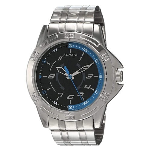 Sonata Analog Black Dial Men's Watch, Trustedreview