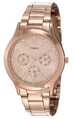 Timex Rose Gold Dial Ladies Watch, Trustedreview
