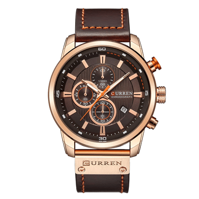 chronograph leather strap watch, Trustedreview