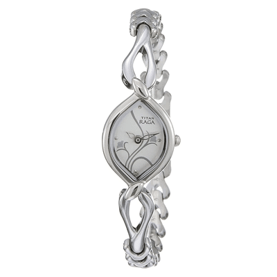 Titan Raga Analog White Dial Women's Watch, Trustedreview