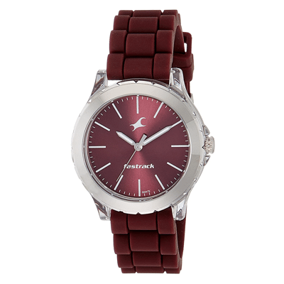 Fastrack Analog Red Dial Women's Watch, Trustedreview