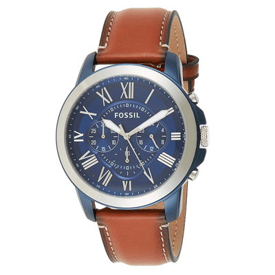 Fossil Grant Chronograph Blue Dial Men's Watch, Trustedreview