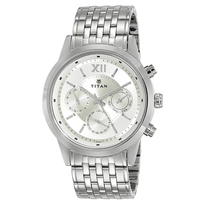 Titan Neo Analog Champagne Dial Men's Watch, Trustedreview