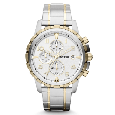 Fossil Men's Watch White Dial, Trustedreview