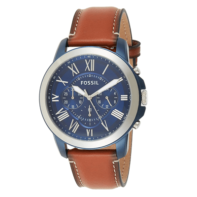Fossil Blue Dial Men's Watch, Trustedreview