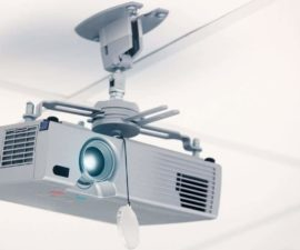 projector from the drop ceiling